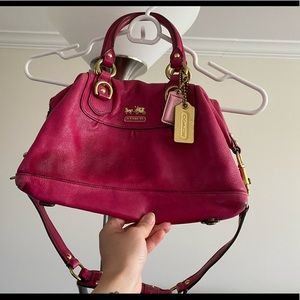 Pink coach leather purse